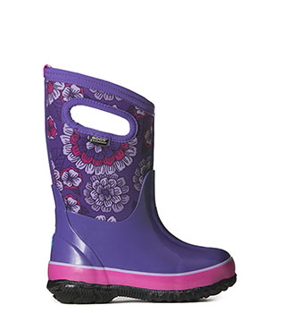Classic Pansies KIDS' INSULATED RAIN BOOTS